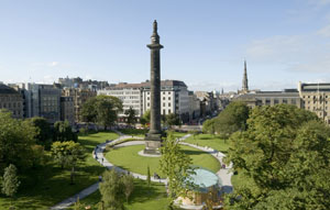 View over St Andrew Square to PowerMapper Software's new HQ